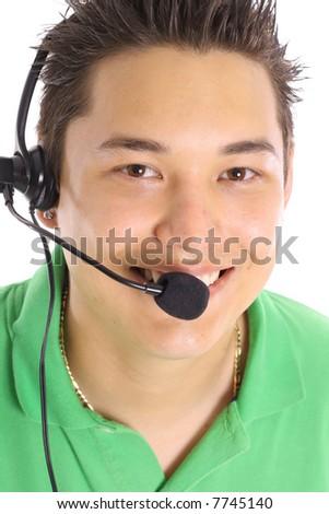 asian male customer service - stock photo