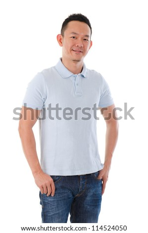 asian male in casual - stock photo