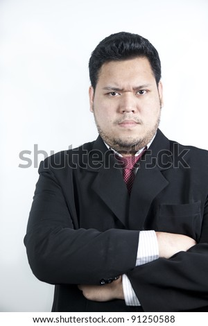 Asian man feel stressed - stock photo