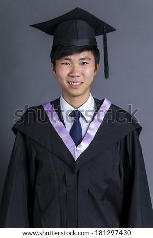 Asian man graduation - stock photo