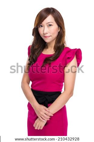 Asian middle age woman portrait - stock photo