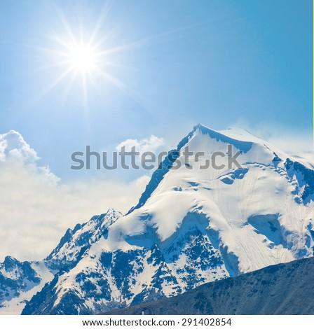 asian mountain peak - stock photo