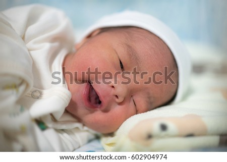 Asian New born Baby sleep