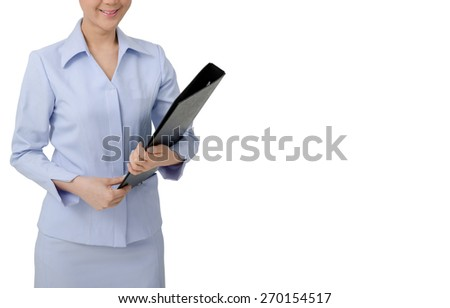 Asian Nurse in uniform  on white background.Medical person for health insurance.