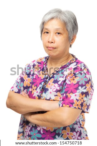Asian old woman - stock photo