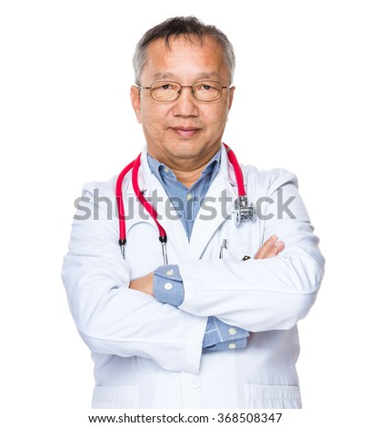 Asian older doctor man