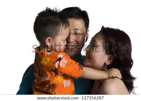 Asian parents with young boy