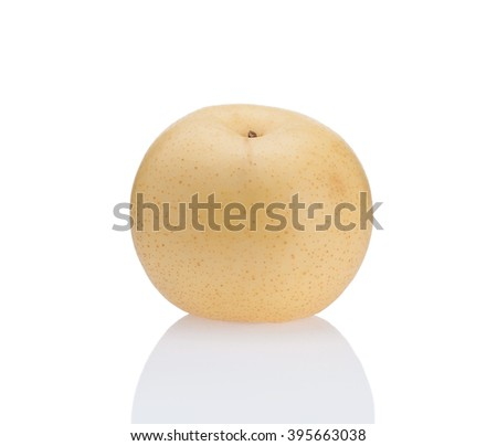 Asian pear Chinese pear isolated on white background - stock photo