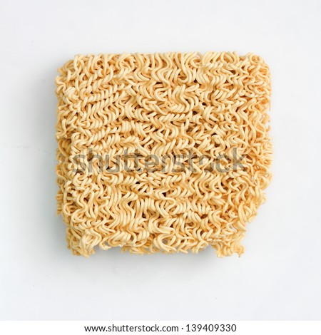 asian ramen instant noodles isolated on white background - stock photo