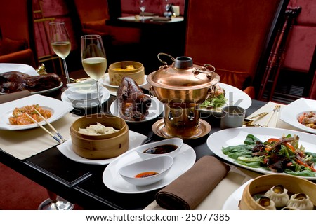 Asian restaurant set - stock photo
