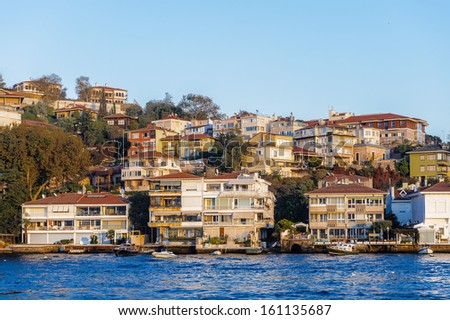 Asian side of the Bosphorus strait, Istanbul, Turkey