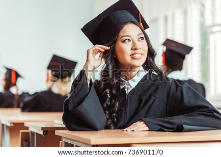 asian student girl in graduation costume sitting at classroom  sc 1 st  Shutterstock & Asian Student Girl Graduation Costume Sitting Stock Photo (Royalty ...