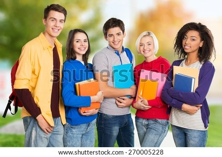 Asian, students, group. - stock photo