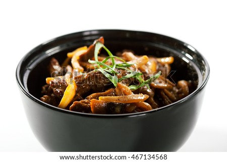 Asian Style Beef with Cream Sauce and Mushroom