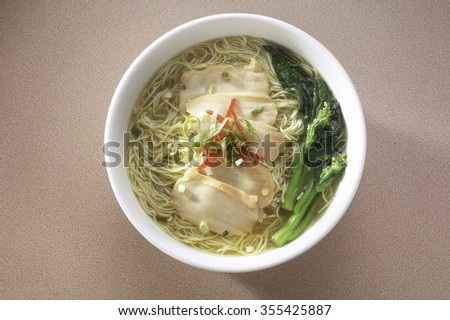 Asian style noodles with abalone