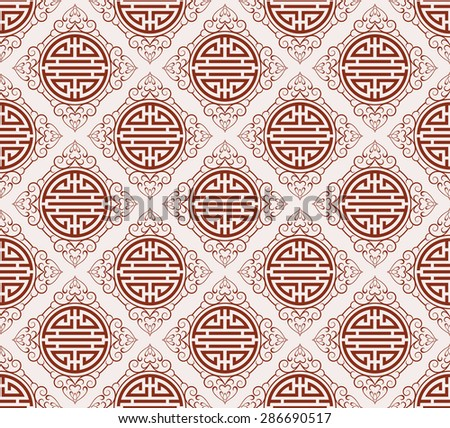 Asian stylish texture geometric tiles wallpaper pattern background in retro style for your design seamless pattern