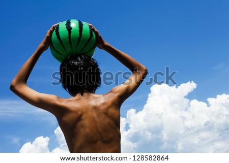 Asian summer vacation - stock photo