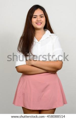 Asian teenager girl - stock photo