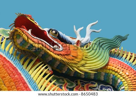 Asian temple dragon - stock photo