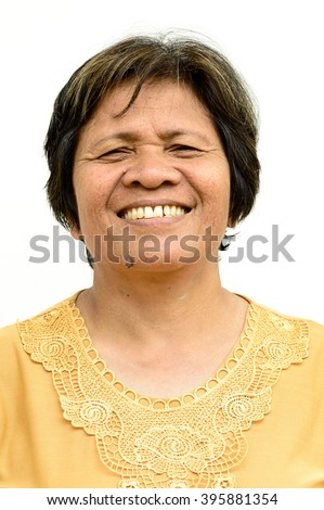 Asian Thailand aunt to smiling and happy face