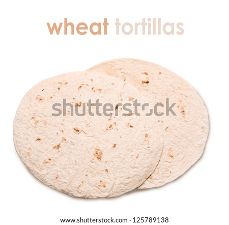 asian tortilla bread isolated on white