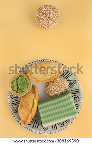 Asian traditional dessert, snack - stock photo