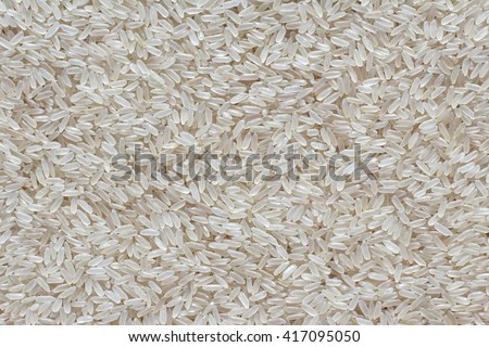 Asian white uncooked rice - stock photo