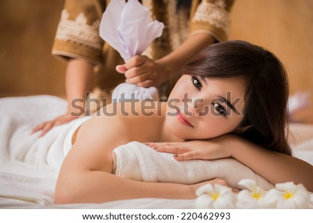 Asian woman in a spa