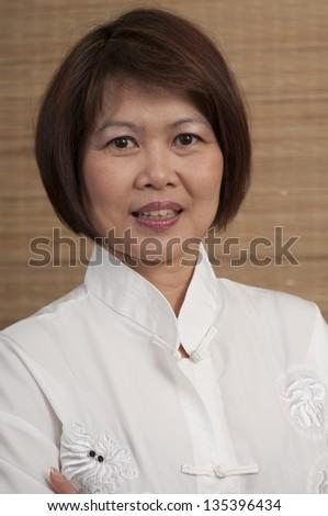 Asian woman portrait - stock photo