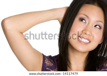 Asian Woman Smiling - stock photo