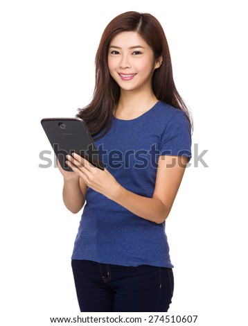 Asian woman use of tablet