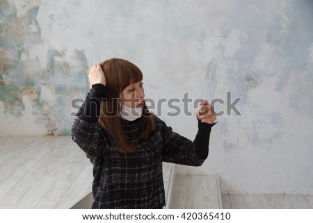asian woman with thermometer