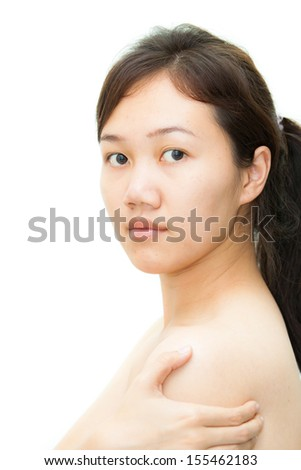 Asian women model isolated