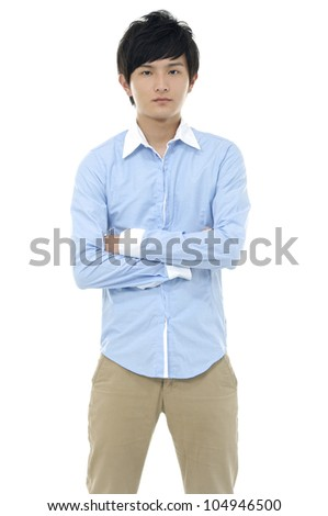 Asian young man posing