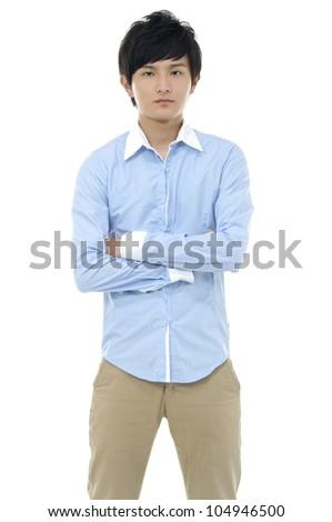 Asian young man posing - stock photo