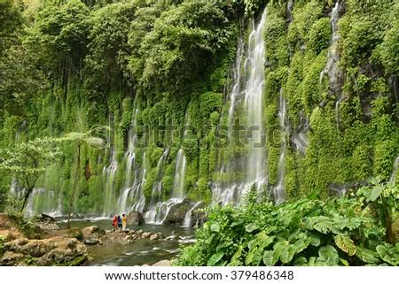 Asik-Asik Falls in Alamada, North Cotabato, Philippines - stock photo