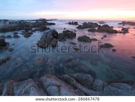 Asilomar State Beach, near Monterey, California - stock photo