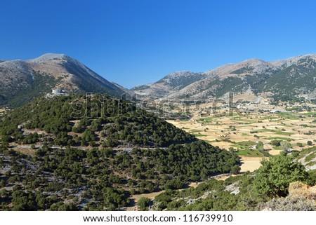 Askyfou plateau at Crete island in Greece. Area of Chania - stock photo