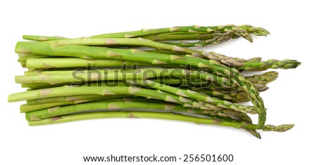 asparagus close up on white background  - stock photo