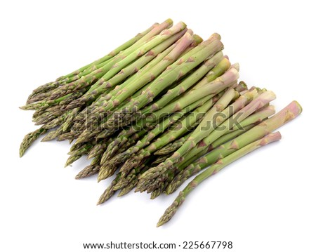 asparagus on white background - stock photo
