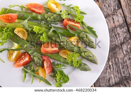 asparagus with tomato