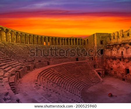 aspendos amphitheater (Antalya Turkey)