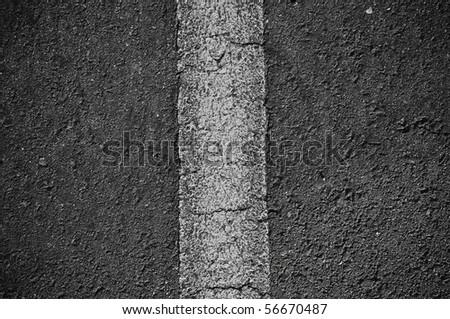 Asphalt Black Divided Horizontal Line - stock photo