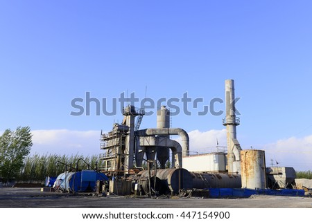 Asphalt concrete mixing equipment