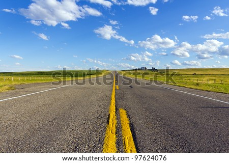 asphalt country road in america