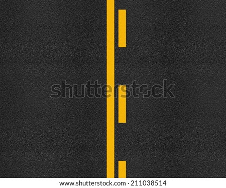 Asphalt highway road texture with markings background - stock photo