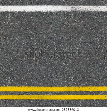Asphalt road close up top view background