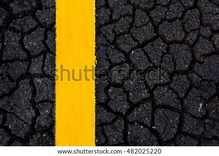 Asphalt road cracking texture