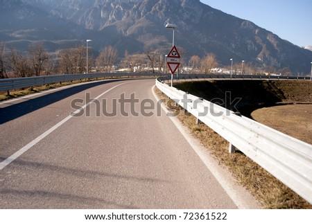 asphalt road motorway - stock photo