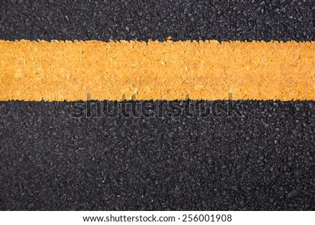 Asphalt road texture with lines. - stock photo